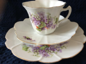 Continental tea trio Violets and Lily of the valley